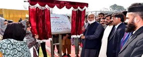 PU VC lays foundation stone of flat for employees